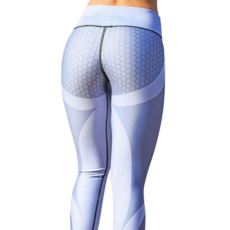 8colors Hot Honeycomb Printed Yoga Pants Women Push Up Sport Leggings Professional Running Leggins Sport Fitness Tights Trousers 7