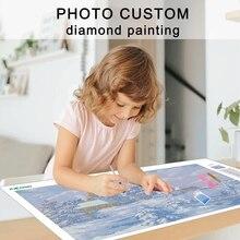 5D DIY Diamond Paintings Custom Yourself Photos, Lovers Birthday Gift Photos Art Crafts Cross stitch Kit Crystal Home Decor Gift