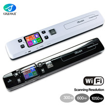 WiFi Portable Scanner with 16G SD Micro Card HD LCD Display GZQIANJI Handheld Document Scanner A4 Size 1050DPI Support JEPG PDF(China)