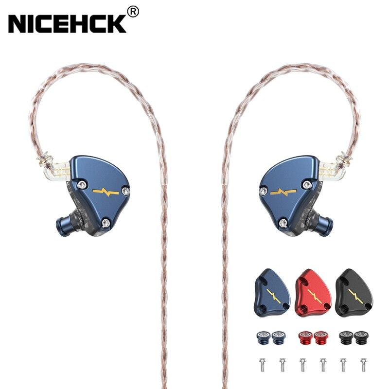 Najnowszy sterownik NiceHCK NX7 MK3 IEM 7 słuchawki hi-fi ulepszony 4BA + podwójny CNT dynamiczny + piezoelektryczny hybrydowy wymienny Facepanel