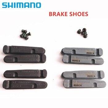 Shimano dura ace ultegra 105 r55c4 sapatos de freio bicicleta estrada almofadas aro alumínio carbono para freio br 9100 9110 6800 6810