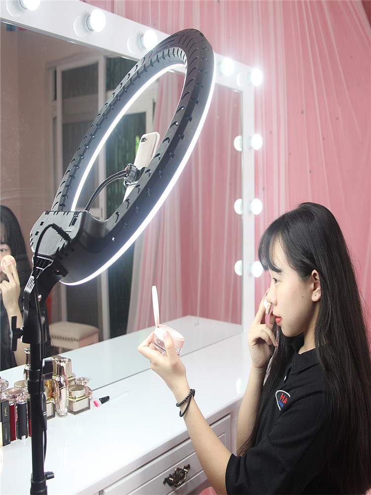 FOSOTO Ring-Light Makeup Video 21inch Photography Tripod Led Remote FT-54 with And