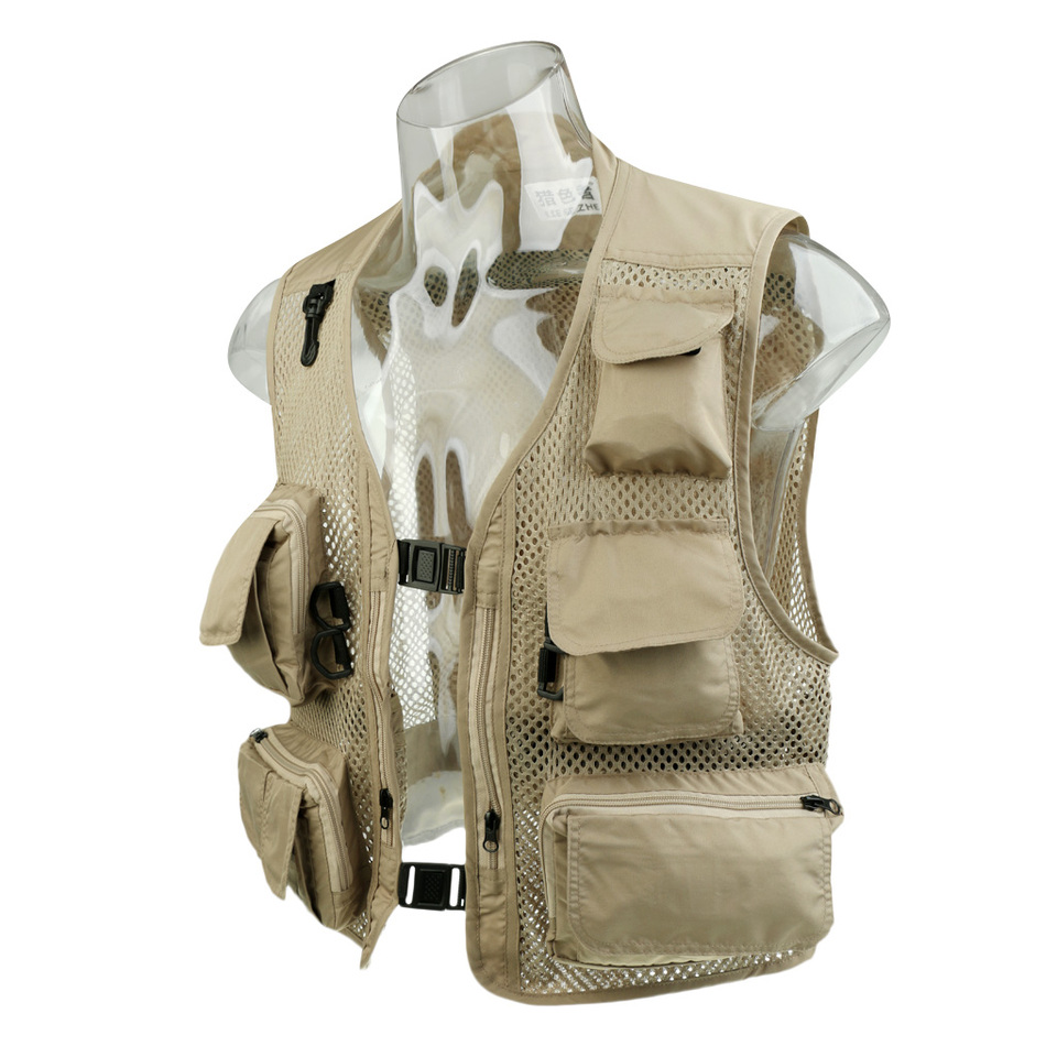 Men/'s Mesh Photography Fishing Travel Outdoor Quick Vest Jackets Breathable J2F6