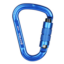 Outdoor Rock Climbing Carabiner 25kN Safety Lock Buckle Rescue Mountaineering Equipment