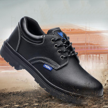 Безопасная обувь и головные уборы; мужские туфли-оксфорды со стальным носком на низкой подошве; обувь для работы; Нескользящая дышащая сетч...
