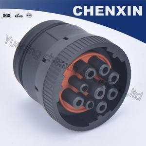 Image 4 - Черная 9 контактная герметичная фоторозетка 1,6, женские автомобильные аксессуары, проводной адаптер для подключения