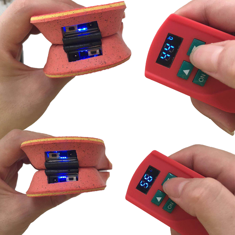 2 пары нагревательных стелек с аккумулятором 2000 мАч для мужчин и женщин, теплые зимние стельки для ног, уличные спортивные Нескользящие терм... - 3