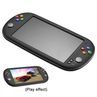 X16 Handheld Player Double Rocker Music USB Video Game Console Earphone Movies 7 Inch ABS Portable Retro Multifunction
