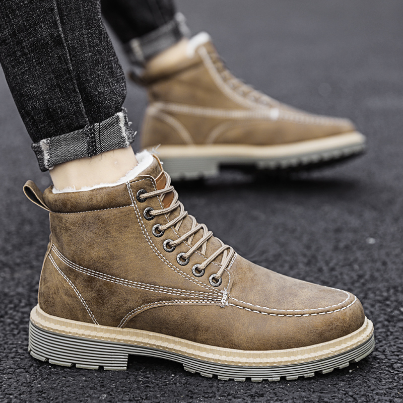 Men Snow Boots Winter Warm Outdoor Snow Walking Ankle Boots 2020 New Winter Male Comfortable Warm Casual Winter Shoes Men Boots