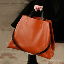 Bolsa de ombro feminina de couro genuíno de luxo moda famosa marca grande bolsa de couro feminino e bolsas grandes senhoras topo alça saco