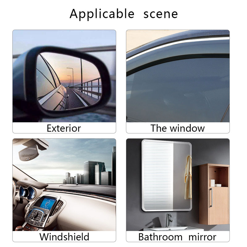 Oppselve 2Pcs 0 15mm Car Rearview Mirror Window Clear Ultra Film Anti Fog Window Foils Rainproof Protective Car Sticker Holder in Phone Holders Stands from Cellphones Telecommunications