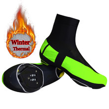Siilenyond Winter Thermal Fleece Road Bike Shoes Cover Copriscarpe Cycling Shoe Cover Reflective MTB Bicycle Overshoes(China)