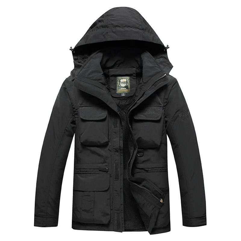 Image 5 - Men Tactical Jacket Autumn Quick Dry 2 in 1 XXXL Military Style  Army Coat Male 2019 Multi Pockets Hooded Windbreaker Waterproofhooded  windbreakerwindbreaker waterprooftactical jacket