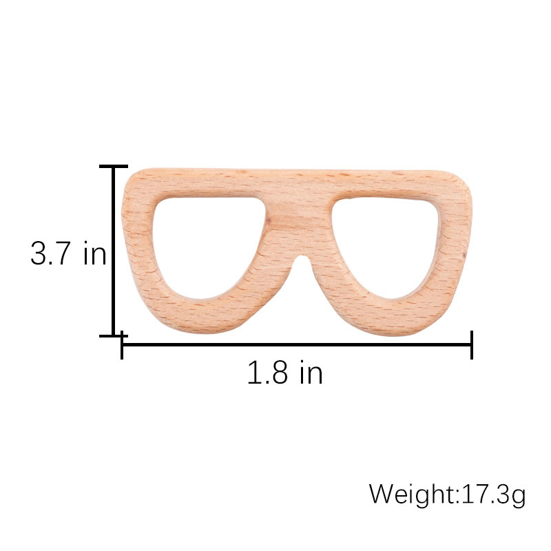 Let's Make 10PCS Baby Wooden Teethers Leaves Shape Latex Free Beech Wooden Baby Teethers Toys DIY Pendants For Making Necklace