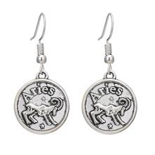 Vintage plata nueva moda Simple constelación Aries/Pisces pendientes colgantes encantadores para mujer