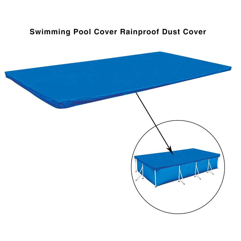 Lightweight Pool Cover Rainproof Protective Garden Thicken Home Keep Clean Rectangular Anti Dust Polyester Easy Use Above Ground