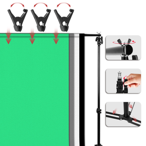 Image 5 - ZUOCHEN Photo Studio Softbox Continuous Lighting Kit Background Soft Box Light Stand+ 3 Backdrops + 2*2M Backdrop Support Kit