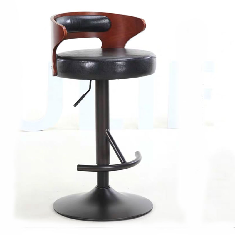 European Style  Barstool Retro Simple Rotate Adjustable Coffee Shop Front Desk Home Bar Leisure High Chair