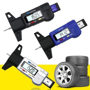 Digital Tire Tread Depth Gauge Brake Pad Shoe Gauge Depth Tester Guage Test Caliper Tread Checker Tire Tester for Cars Trucks