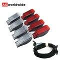 Оборудование Red Door Панель Предупреждение ног Светильник лампы + проводка кабеля для Audi A3 A4 B8 A5 A6 A7 A8 Q3 Q5 TT 8KD947411 6Y0947411 8KD947415