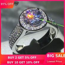 Choucong Brilliance หรูหราแหวน 2ct 5A Zircon CZ 925 (China)