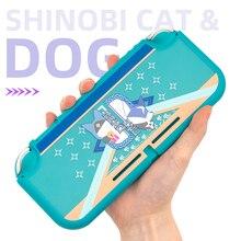 Ninja gato cão interruptor lite escudo translúcido fosco capa dura habitação jogo capa protetora para nintendo switch lite acessórios