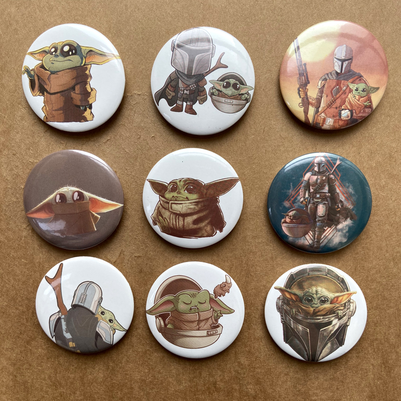Baby Yoda The Mandalorian Toy Rim Badge Icon Brooch On The Clothing Bag Tie Decoration Badge DIY Crafts On Jacket