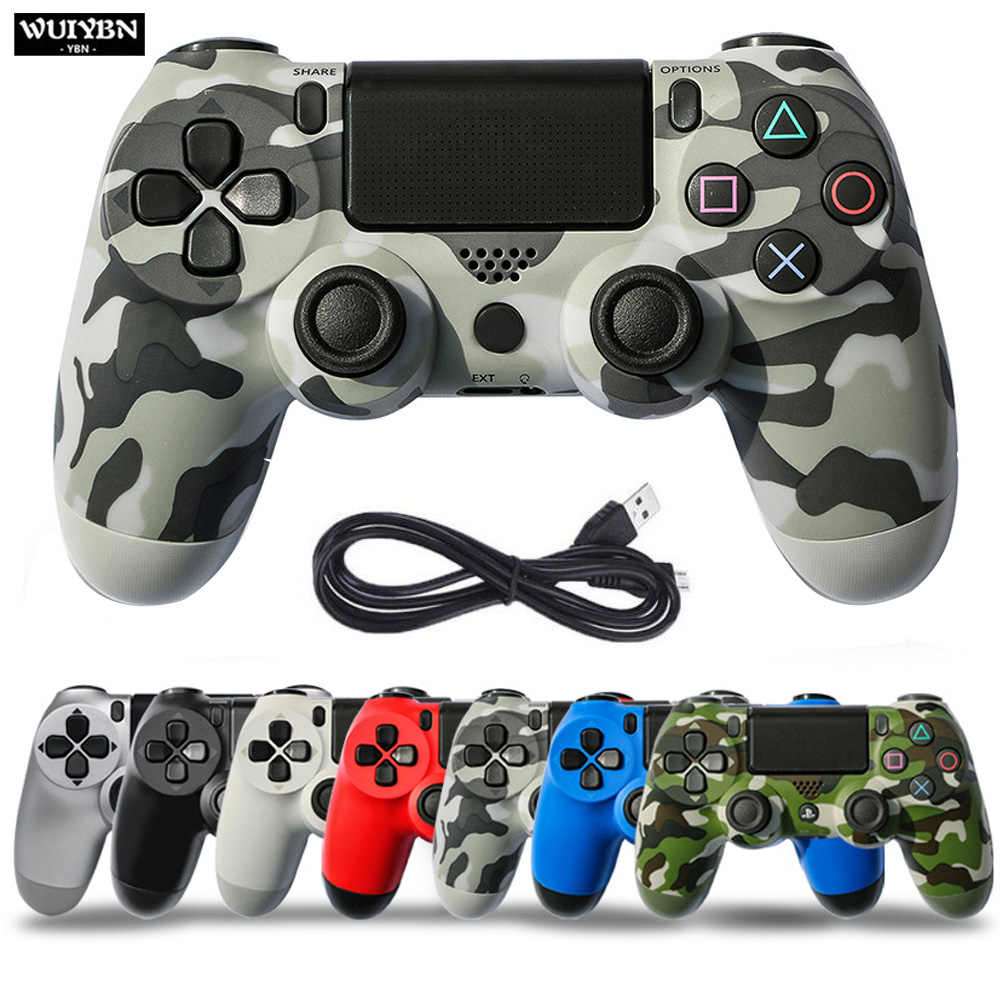 Wuiybn Wired Gamepad PS4 Controller Joystick untuk Sony DualShock PlayStation 4 Game Machine Console PC Uap