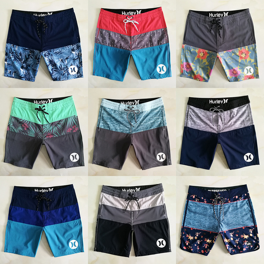 hurley brand summer men surf surfing   shorts   sports beach pants sky blue stripes men leisure swimming   shorts   quick dry plus size