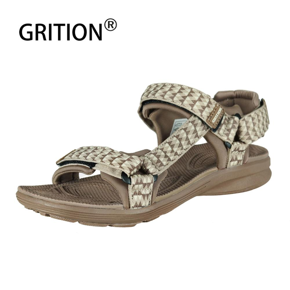 GRITION Women Sandals Outdoor Platform Summer Ladies Beach Shoes Comfortable Fashion High Quality Sexy Sandals 2020 Big Size 41