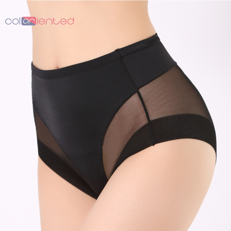 COLORIENTED Women Boyshorts Body Shaping Panties Female Pants High Elastic Control Briefs Seamfree Breathable Mesh Intimates