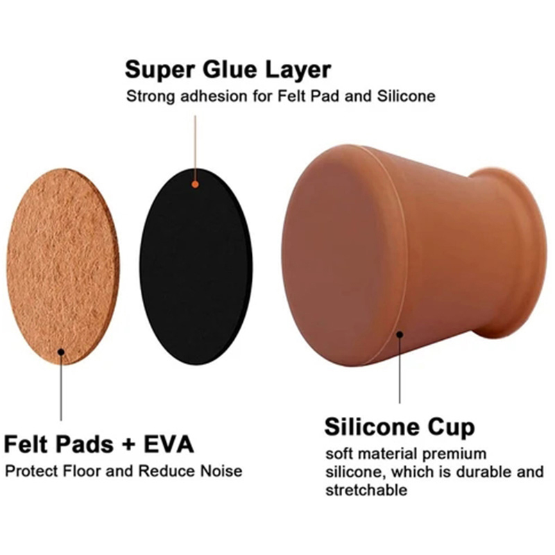 Chair and Table Legs Felt Protective Covers