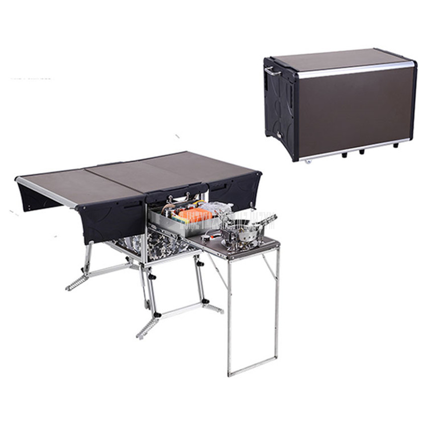 5-7 Person Outdoor Mobile Kitchen Foldable Outdoor Gas Stove Desk Hiking Camping Gas Burners Cooker Stove + Windshield C550/C650