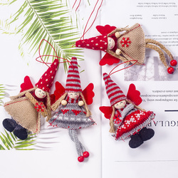 1pcs Angel Doll Pendants Christmas Hanging Ornaments Small Gift for New Year Xmas Party Decoration Baubles SA146 6