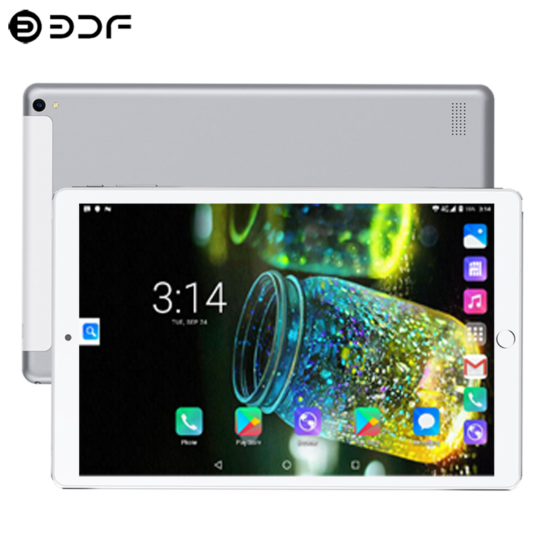 10.1 Inch Tablet 3G/4G Phone Call 6GB/128GB Octa Core Android 7.0 Bluetooth Dual SIM Support GPS Tablet PC+Cover