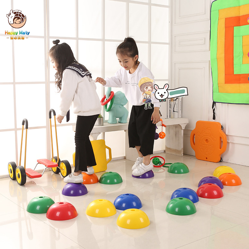 36pcs Set Balance Training Stone Crossing The River Stone Kindergarten Children Indoor Outdoor Sensory Training Toys Kids Toys