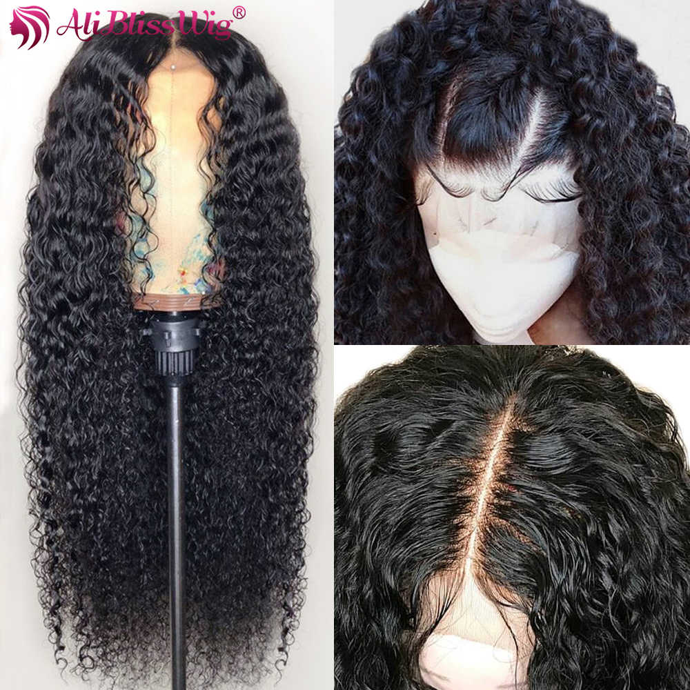Curly Human Hair Wig 360 Lace Frontal Wig Pre Plucked With Baby Hair 150% 360 Lace Wig High Ratio Remy Malaysian Curly Wig