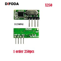 250pcsRF moduł 315 Mhz superheterodyne odbiornik i nadajnik zestaw DIFODA dla arduino uno zestawy diy 315mhz pilot