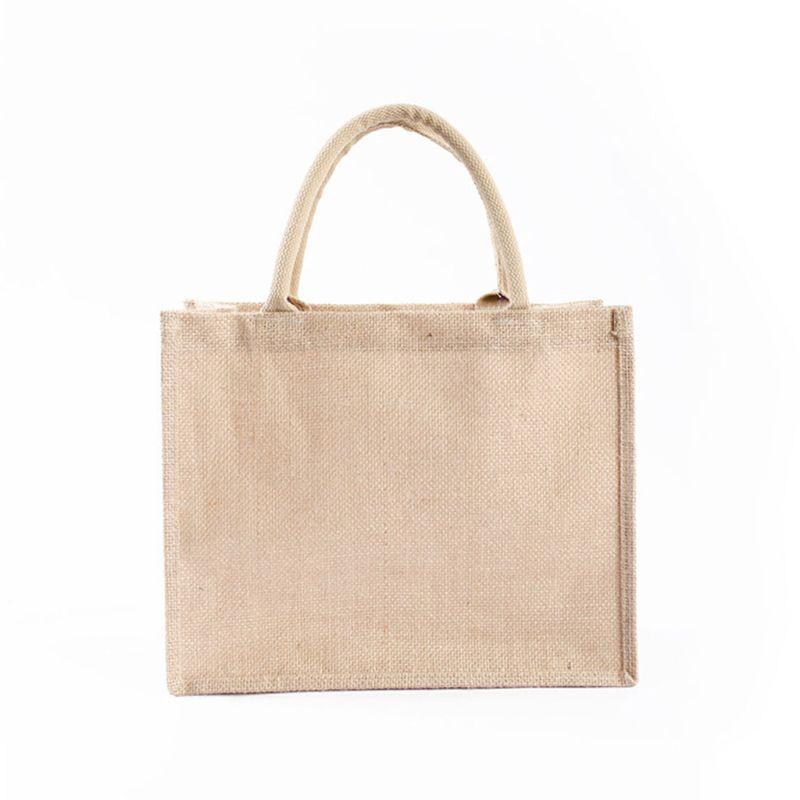 Multifunction Women Jute Tote Fruit Vegetable Storage Shopping Bag Lady Female Casual Travel Portable Reusable Handbag