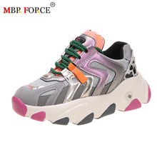 MBR FORCE 2020 Spring Summer Chunky Sneakers Zapatos Dorados Par Mujer shoes Thi