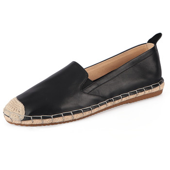 Fashion Women Casual Fisherman Shoes Slip On Espadrilles Flat Shoes Real Leather Female Flats 2020 New Spring Ladies Girls Shoes