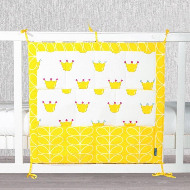 55x60cm Cartoon Nursery Room Hanging Storage Bag Baby Cot Bed Organizer Pocket