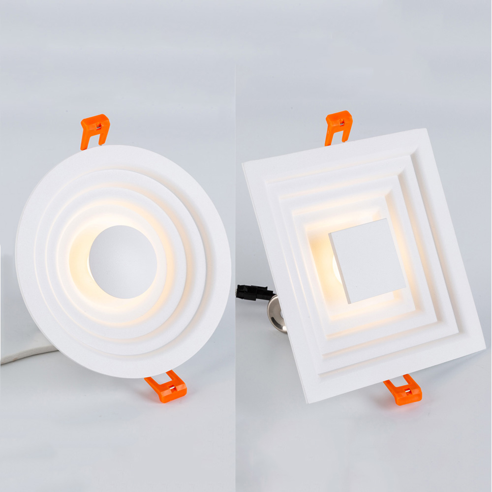 ZEROUNO Ultra Thin LED Downlight 6W 12W Square Round Iron Led Light 110V 220V Nordic Mordern LED Ceiling Recessed Spot Lighhting