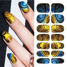 1 vel Grote Chry Bloem DIY Decals Nagels Water Transfer Printen Stickers Accessoires Voor Manicure Salon(China)