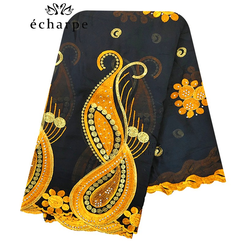 2020 New African Women Scarf, Embroidery Cotton Women Economic Scarf Big Size Scarf For Shawls EC983