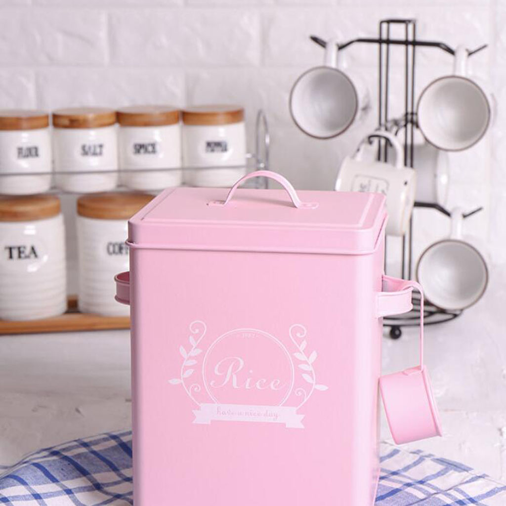 Laundry Detergent Powder Storage Tin Box With Scoop Laundry Room Decor 9 Inch High Pink Storage Bottles Jars Aliexpress