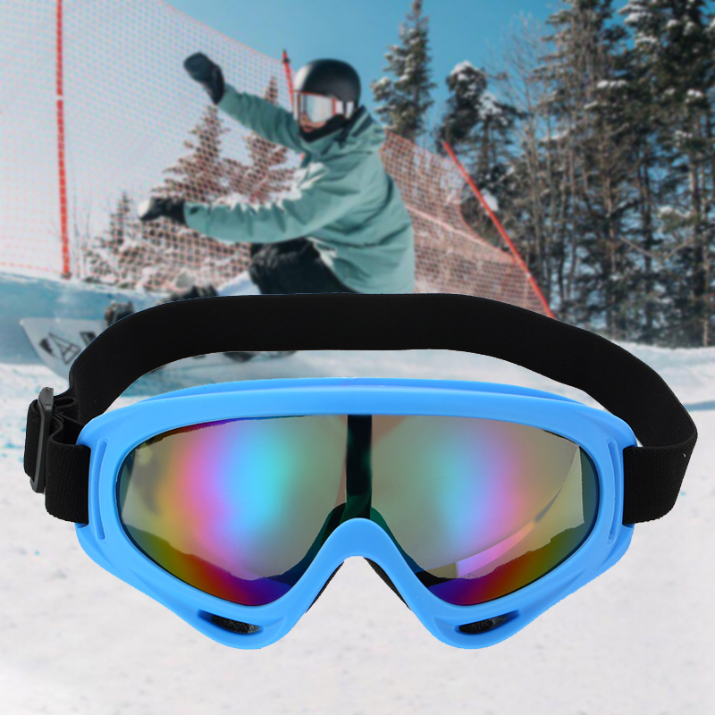 Winter Outdoor Ski Glasses Snowmobile Anti-fog Windproof Dust-proof Glasses Riding Glasses With Breathing Holes Snow Sunglasses
