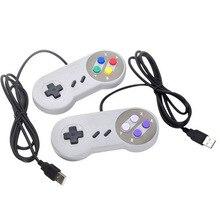 Controlador usb gaming joystick gamepad controlador para nintendo snes jogo almofada para windows pc para mac controle de computador joystick