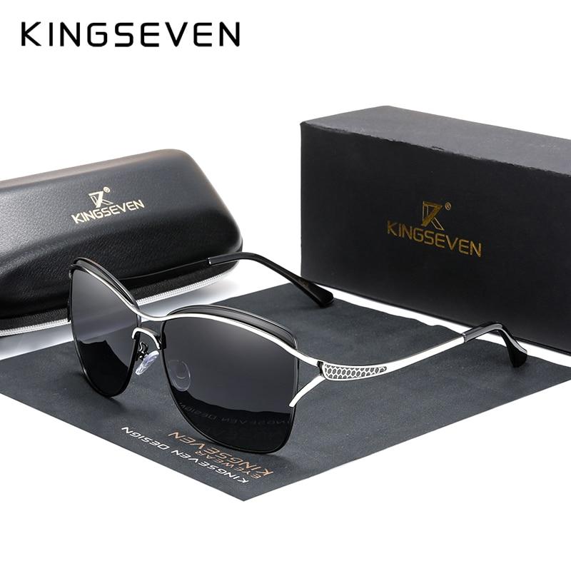 KINGSEVEN Retro Womens Sun Glasses Polarized Luxury Ladies Brand Designer Gradient Lens Sunglasses Eyewear For Women Female