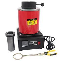 2KG mini smeltoven, metalen smeltovens, kleine smeltoven 1100℃ 220/110V